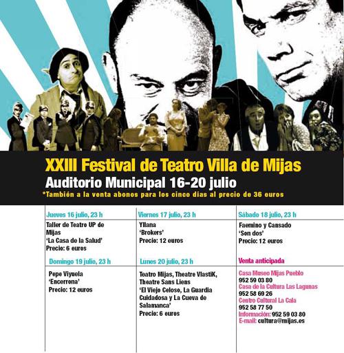 Festival de Teatro de Mijas 2009