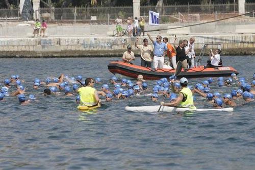 50 edición de la travesia a nado del puerto de Málaga