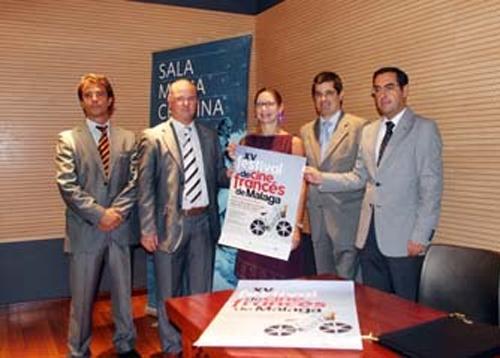 Iñaki Audicana, Francisco Cañadas, Sylvie Raguer, Manuel Jesús García y Miguel Briones durante la presentación del Festival.