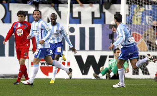 Celebración del gol de Apoño