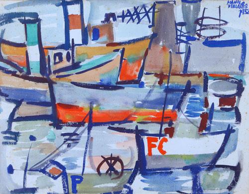 El puerto de la luz (1952) de Manolo Millares