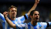 vista previa del artículo El Málaga golea al Racing y se coloca tercero